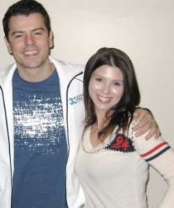 Jordan Knight (my fave New Kid) and me (with brown hair)